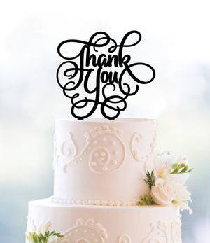 Thank You Custom Cake Topper Monogram Cake Topper Acrylic Cake Topper Retirement Party Retirement Gift Cake Decoration Wedding - (T093)