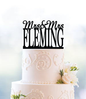 Custom Mrs and Mrs Cake Topper, Lesbian Wedding Cake Topper, Lesbian Wedding Decor, Same Sex Cake Topper, Gay Wedding Cake Topper (T109)