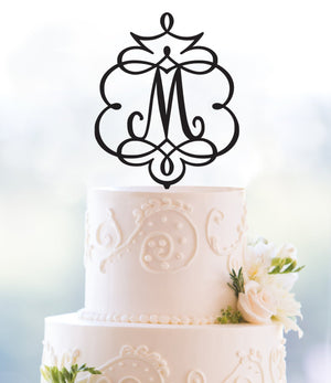 Framed Monogram Topper, Initial Cake Topper, Monogram Wedding Topper, Monogram Topper, Wedding Cake Topper, Birthday Cake Topper (T086)