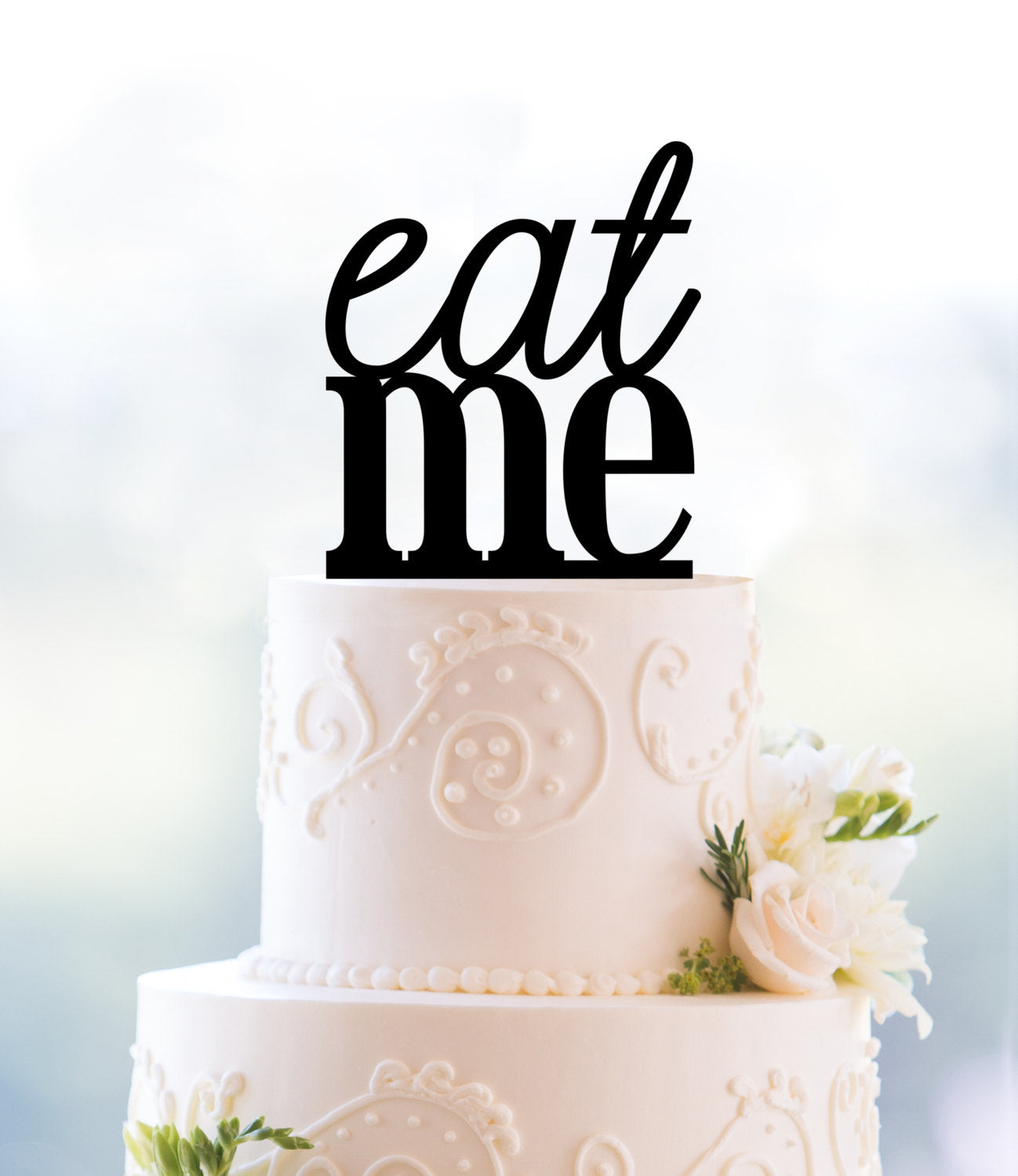 Funny Eat Me Cake Topper Funny Wedding Cake Topper Wedding Cake Table Decor Unique Cake Topper Wedding Cake Decorations T081