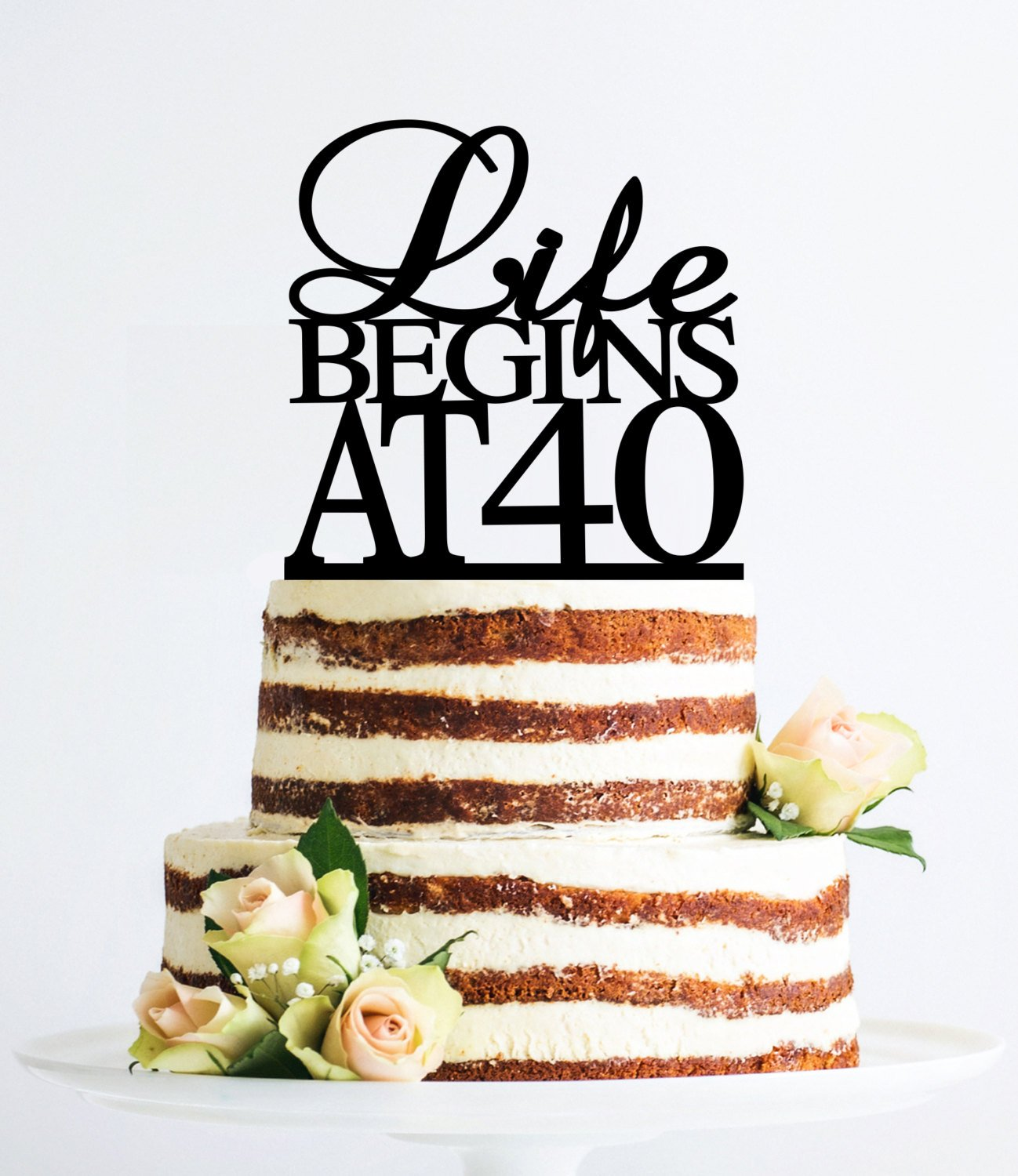 Miraculous Gold Life Begins At 40 Cake Topper 40Th Birthday Cake Topper Funny Birthday Cards Online Alyptdamsfinfo