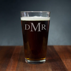Personalized Beer Glass - Custom Groomsman Gift (GG4011)