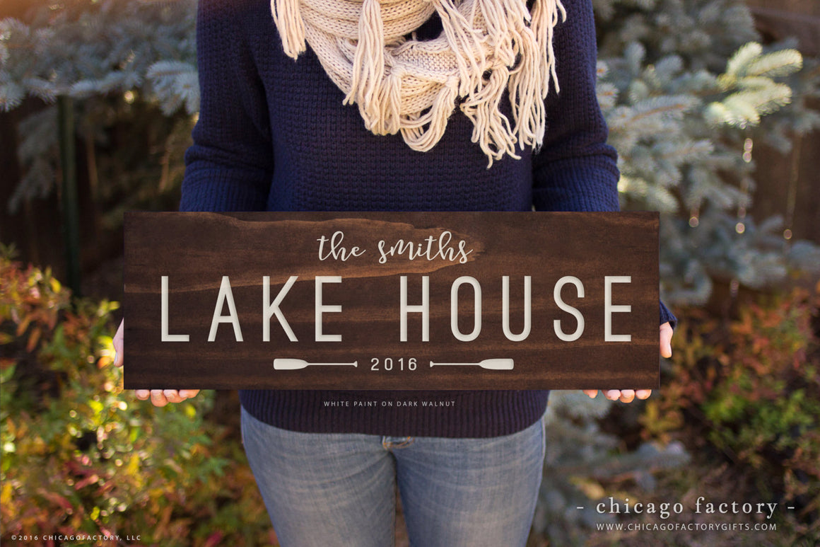 Custom Lake House Signs Lake House Sign Family Established Sign Last Name Sign Rustic Decor Housewarming Gift Birthday Gift Wedding (GP1085)