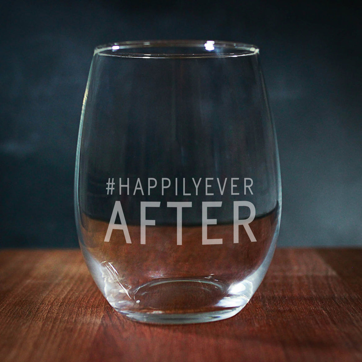 #Happily Ever After Stemless Wine Glass (GG4040)