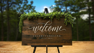 Wedding Welcome Sign with Names (GP1168)