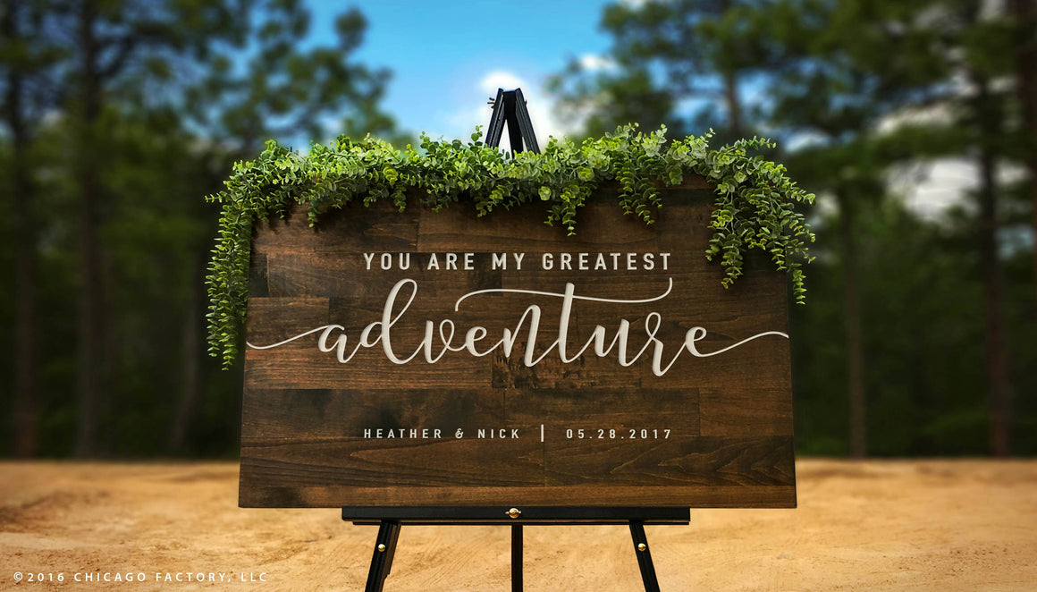 Custom Welcome to Our Wedding Sign, Large Rustic Wood Sign, Wood Welcome Sign, Wedding Gift, Custom Rustic Wedding Decor (GP1178)