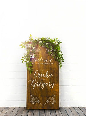 Custom Welcome to our Wedding Sign, Wood Wedding Sign (GP1185)