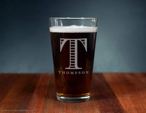 Personalized Initial Ale Glass (GG4113)