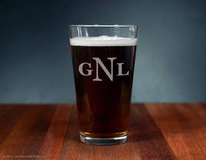 Custom Initial Ale Glass (GG4116)