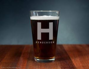 Custom Monogram Ale Glass (GG4127)