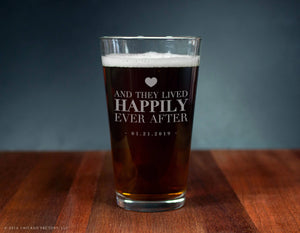 Happily Ever After Personalized Ale Glass (GG4144)