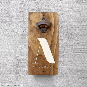 Personalized Beer Opener with Initial and Name (GA8009)