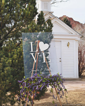 Philadelphia Love Acrylic Sign Wedding Welcome Sign Custom Wedding Sign Wedding Gift Bridal Gift Clear Sign (GP1157-A)