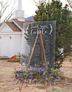 Find your table Acrylic Wedding Sign, Seating Chart (GP1272-A)
