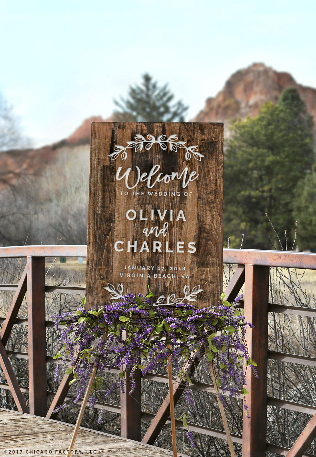 Wedding Welcome Sign Wood Sign Established Date Rustic Wedding Couples Gift Custom Engraved Rustic Decor Bridal (GP1328