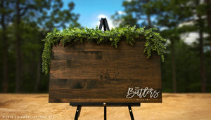Family Name Wedding Welcome Sign Wood Guestbook (GP1342)
