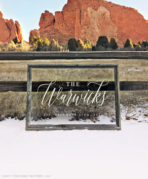 Last Name Sign Clear Acrylic Wedding Sign Welcome Wedding Sign (GP1171-A)