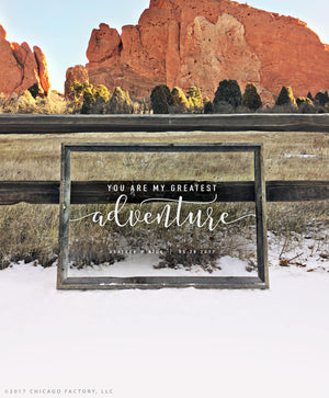 Greatest Adventure Sign Clear Acrylic Wedding Sign Plexiglass Sign Personalized Sign Bridal Wedding Gift Anniversary Gift Wedding (GP1178-A)