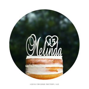 Personalized Birthday Cake Topper, First Name Cake Topper, Birthday Cake Topper, Number Cake Topper, Birthday Party Decor, Sweet 16 (T091)