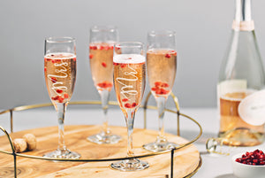 Mr And Mrs Champagne Flute, Custom Couples Glasses (GG4183)
