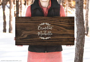 First Name Wooden Guestbook Rustic Wedding Decor Rustic Wedding Custom Guestbook Wood Sign Wedding Gift Bridal Shower Gift (GP1323)