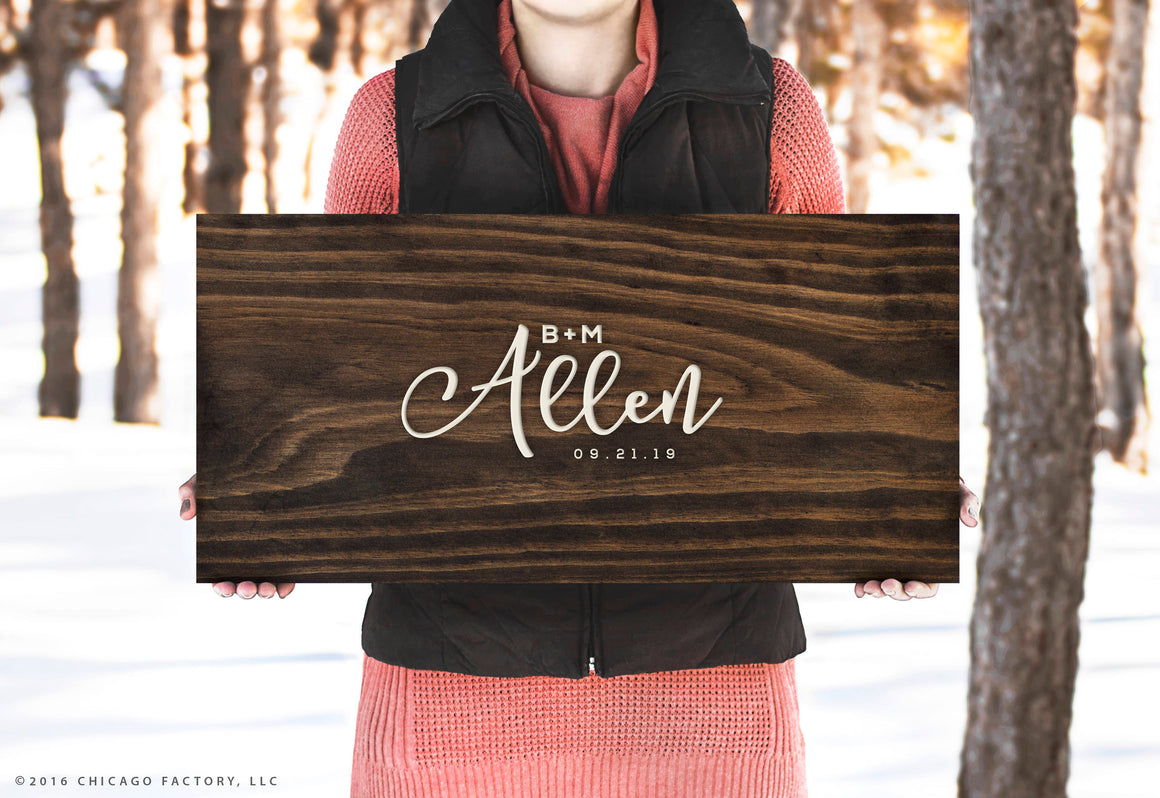 Last Name Wooden Guestbook Rustic Wedding Decor Rustic Wedding Custom Guestbook Wood Sign Wedding Gift Bridal Shower Gift (GP1324)