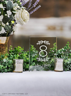 Acrylic Table Numbers, Wedding Table Numbers (GP1659)