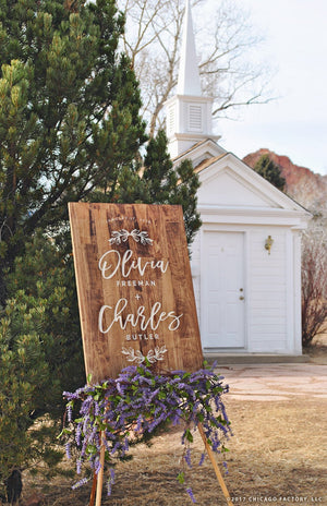 Wood Wedding Sign, Rustic Wedding Sign, Welcome Sign, Wedding Decor, Rustic Wedding Decor (GP1329)
