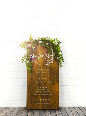 Custom Menu Sign, Wedding Menu Sign, Unique Wedding Sign, Wedding Menu Board, Custom Wedding Decor(GP1346)