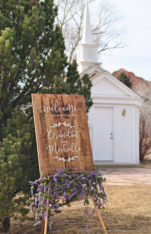 Wedding Welcome Sign, Custom Wedding Sign Wood, Welcome To The Wedding Sign, Welcome Wedding Wood(GP1273)