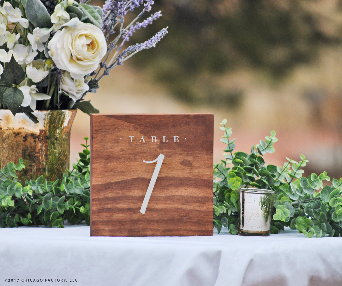 Wood Table Number, Wedding Table Number, Table Centerpiece (GP1638)