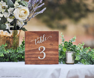 Wood Table Number, Wedding Table Number, Table Centerpiece (GP1640)
