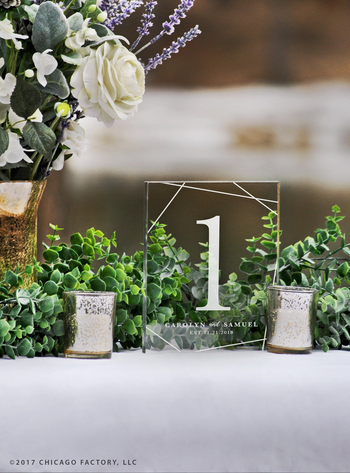 Acrylic Table Numbers, Wedding Table Numbers (GP1651)