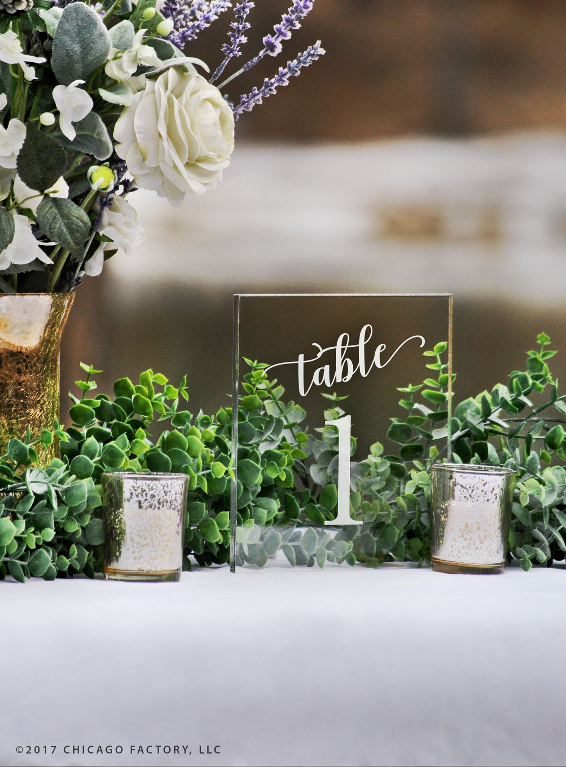 Acrylic Table Numbers, Wedding Table Numbers (GP1652)