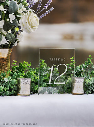 Acrylic Table Numbers, Wedding Table Numbers (GP1660)