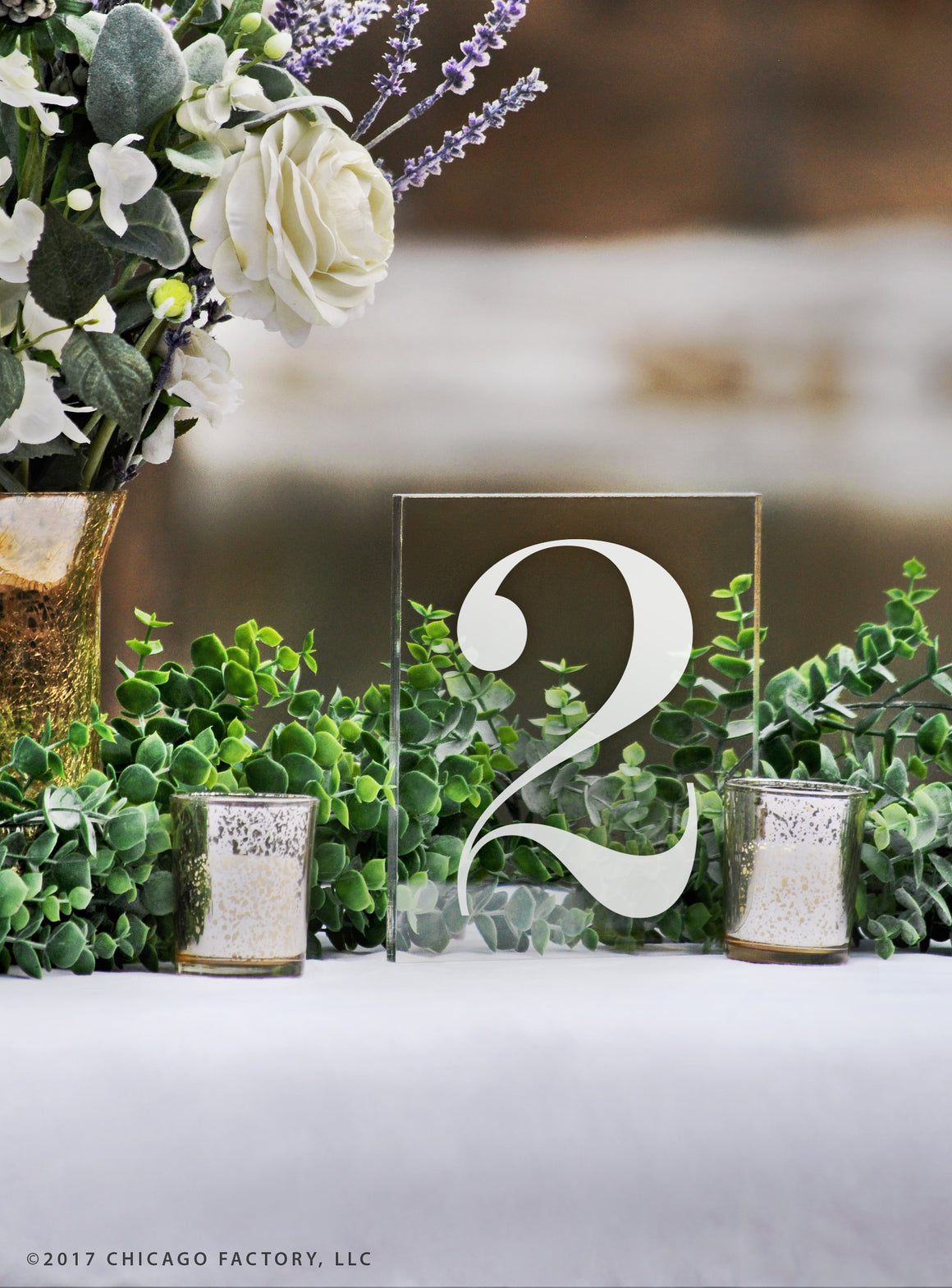 Acrylic Table Numbers, Wedding Table Numbers (GP1664)