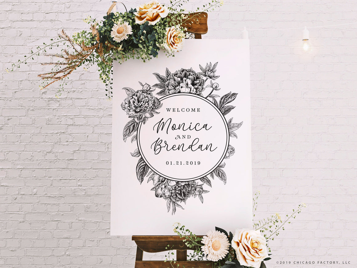 Acrylic Welcome Wedding Sign Boho Wedding Signage (GP2017-A)