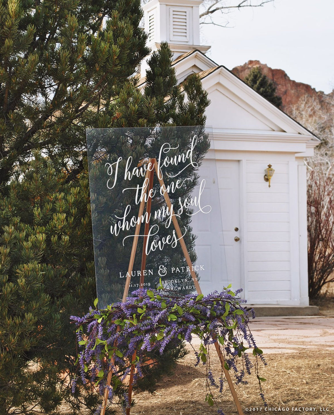 I Have Found The One Whom My Soul Loves Sign - Large Acrylic Welcome Wedding Signs (GP2006-A)