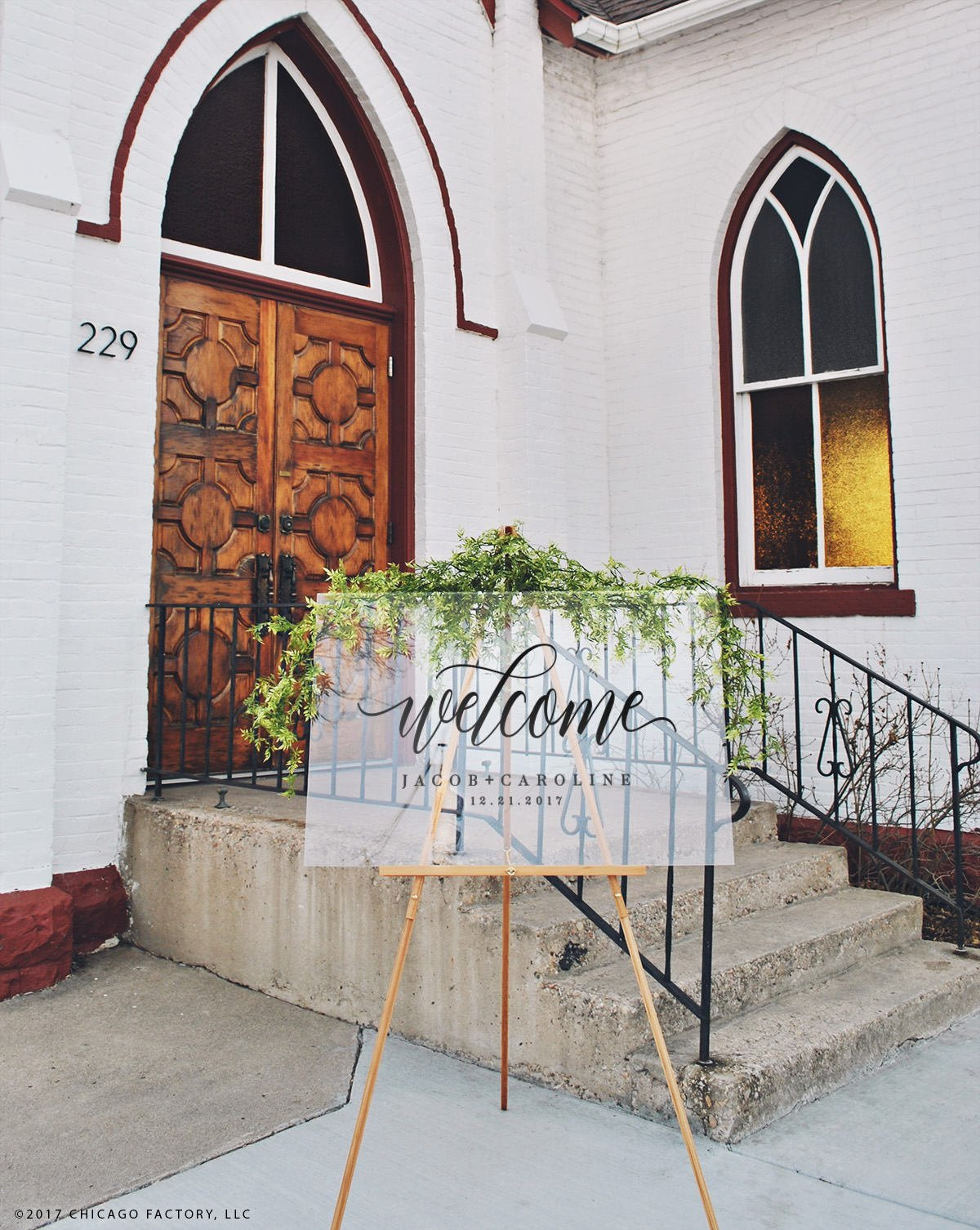 Acrylic Wedding Signs - Chicago Factory