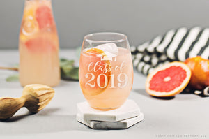 Personalized Graduation Stemless Wine Glass (GG4472)