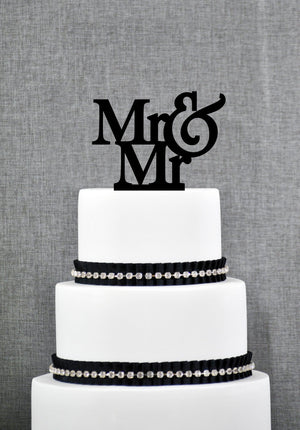 Custom Mr And Mr Cake Topper, Gay Cake Topper, Commitment Ceremony, LGBTQ, Gay Wedding Decor, Mens Cake Topper, Mr and Mr Engagement (T002)