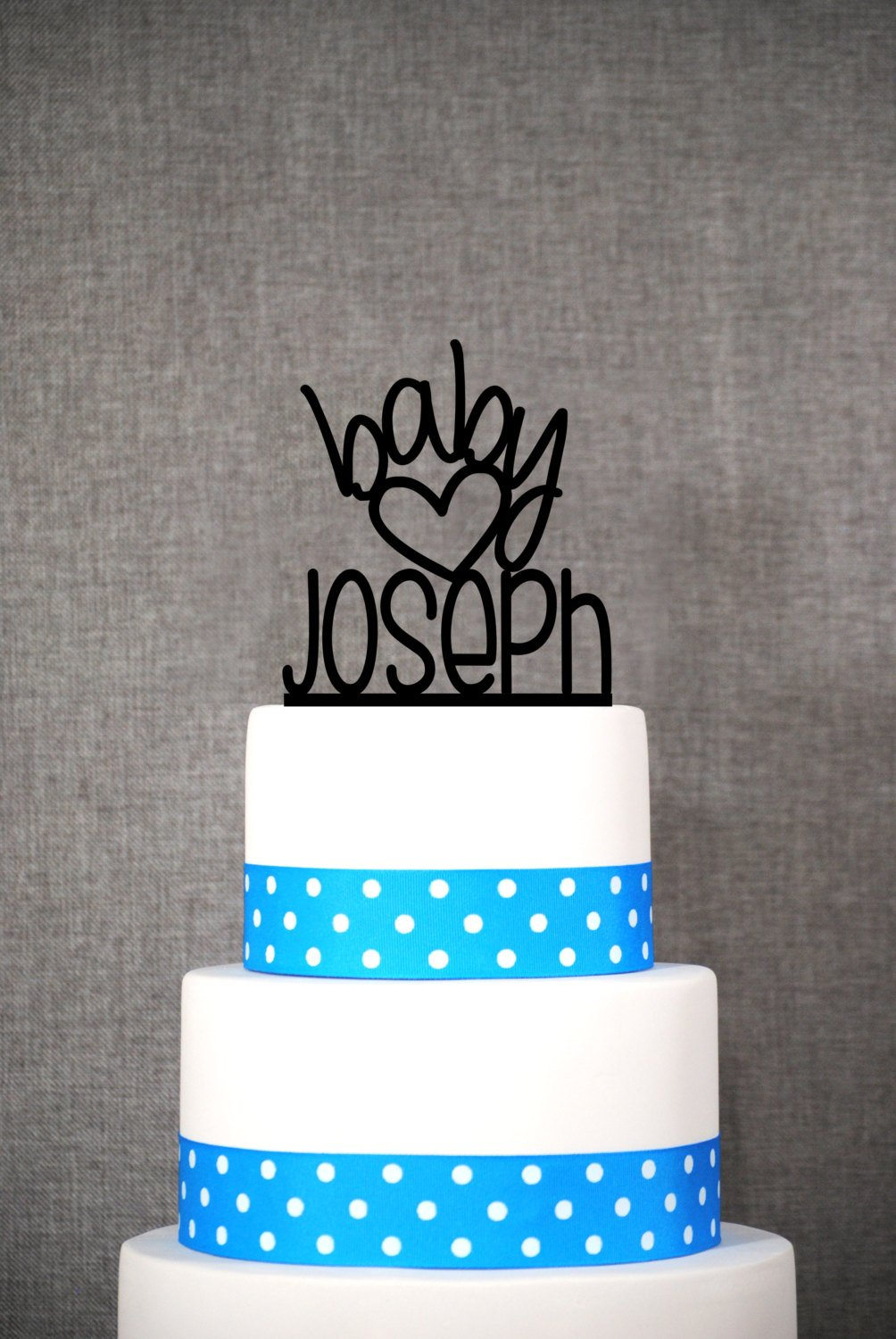 Cute Custom Baby Name Cake Topper Baby Boy Cake Topper Baby Shower Decorations Baby Sprinkle Cake Toper Welcome Baby Cake Topper T073
