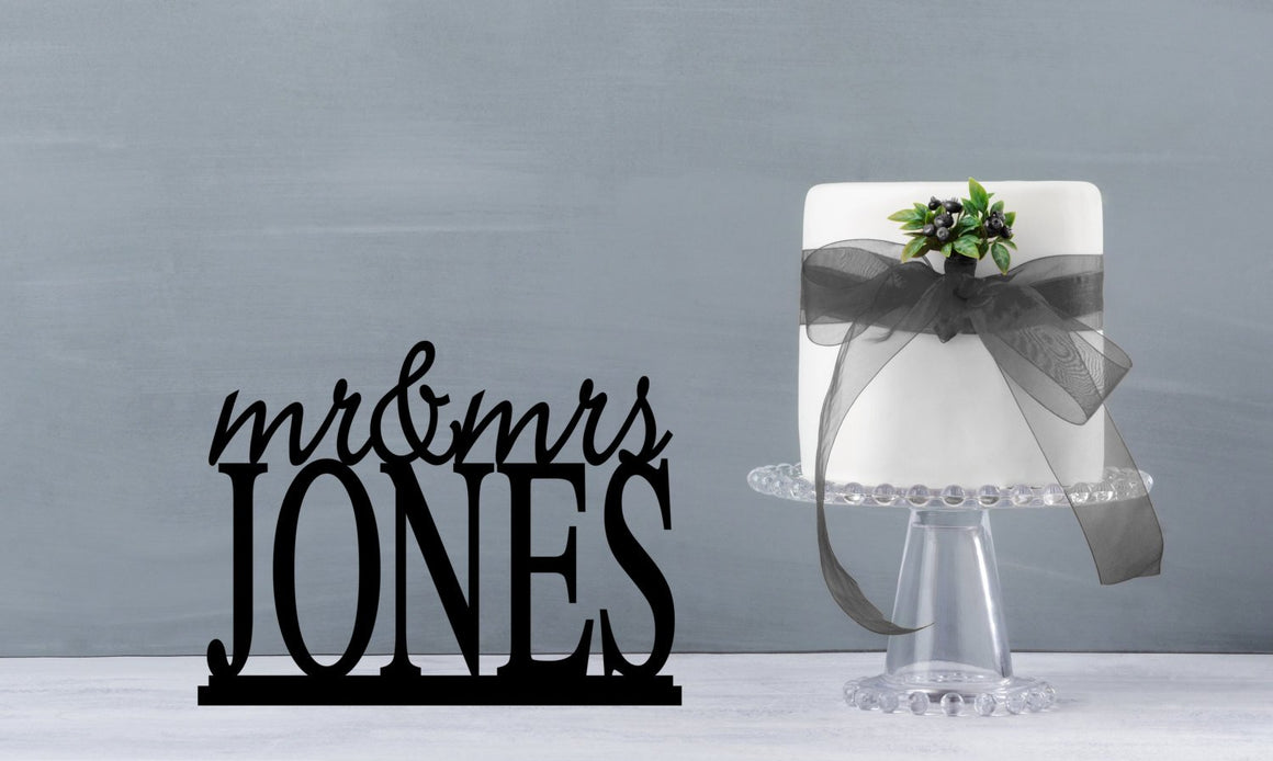 "Custom Sweetheart Table Decor, Mr and Mrs Wedding Signs, Wedding Table Signs, 10"" Table Sign, Mr and Mrs Sign for Sweetheart Table (T071-10)"