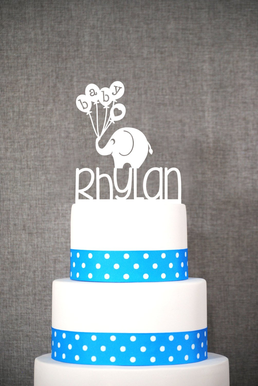 Custom Baby Name Topper With Elephant, Baby Shower Cake Topper, Cute Cake  Topper, Charming, Adorable Cake Topper - (T060)