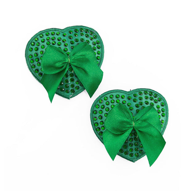 Green Muffy Boucher | Heart Nipple Pasties and Tassels – Appeeling