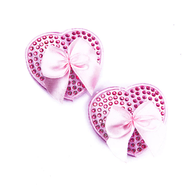 Pink Muffy Boucher Heart Nipple Pasties and Tassels – Appeeling