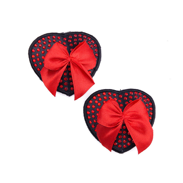Red Muffy Boucher | Heart Nipple Pasties and Tassels – Appeeling