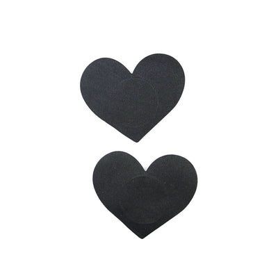 Heart Shape Nipple Petals - Black