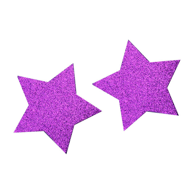 Purple Glitter Star Nipple Covers & Pasties – Appeeling