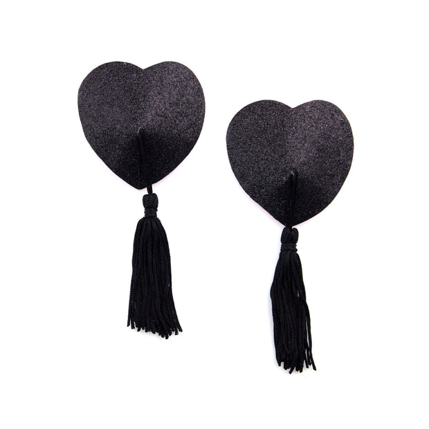 Miss Behaving | Black Glitter Pasties and Tassels – Appeeling